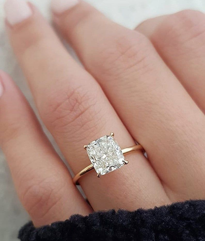 Details about  /3 CT Round CUT DIAMOND SOLITAIRE ENGAGEMENT RING 14K WHITE GOLD ENHANCED