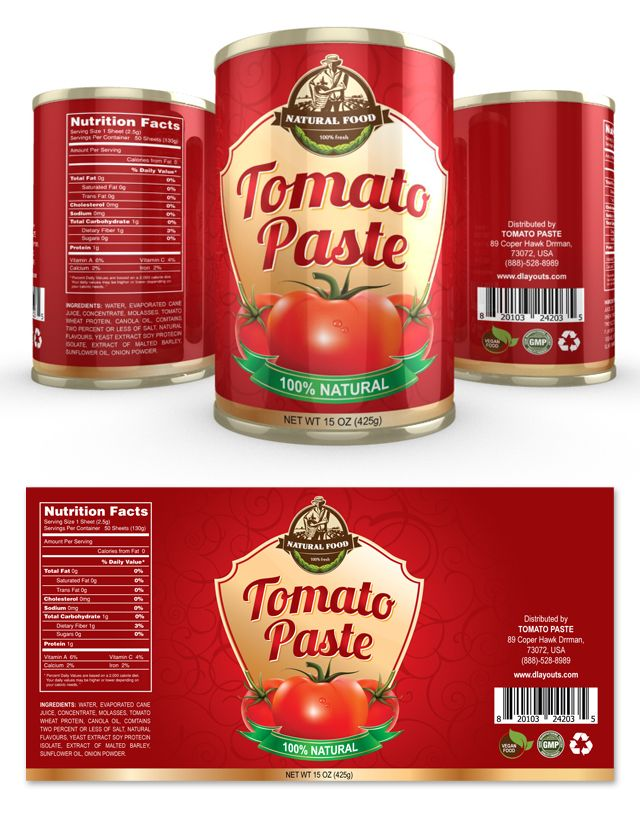 Tomato Paste Label Template Http Www Dlayouts