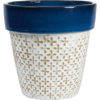 Moroccan Deep Blue Terracotta Planter - 2 Designs Available | Cleo ...