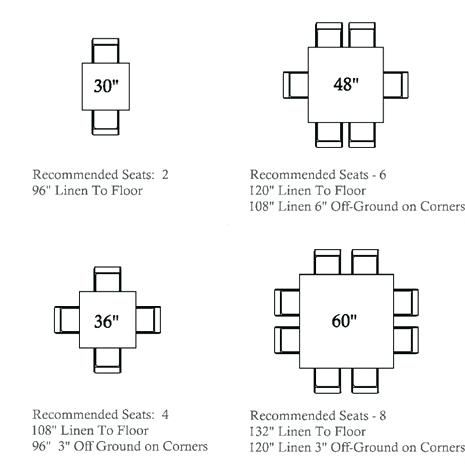 Image result for 8 seat square dining table dimensions for Table 4 personnes dimensions
