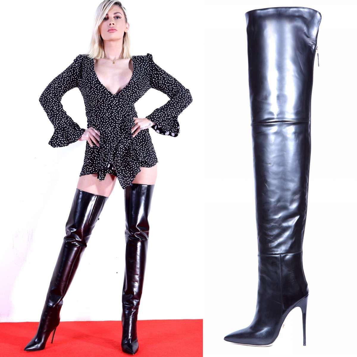 ALINA70 black   Overknee stiefel, Strumpfhosen outfit und
