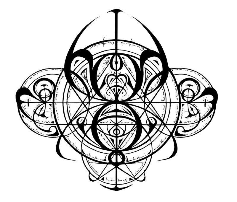 Transmutation Circle Tattoo: Transmutation Circle By Lokaian