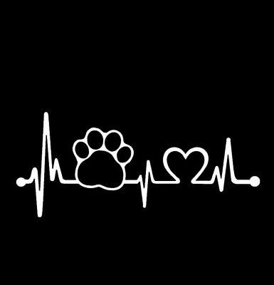 9ae0586207a1 Details about Dog cat paw print car decal sticker motorcycle RV ...