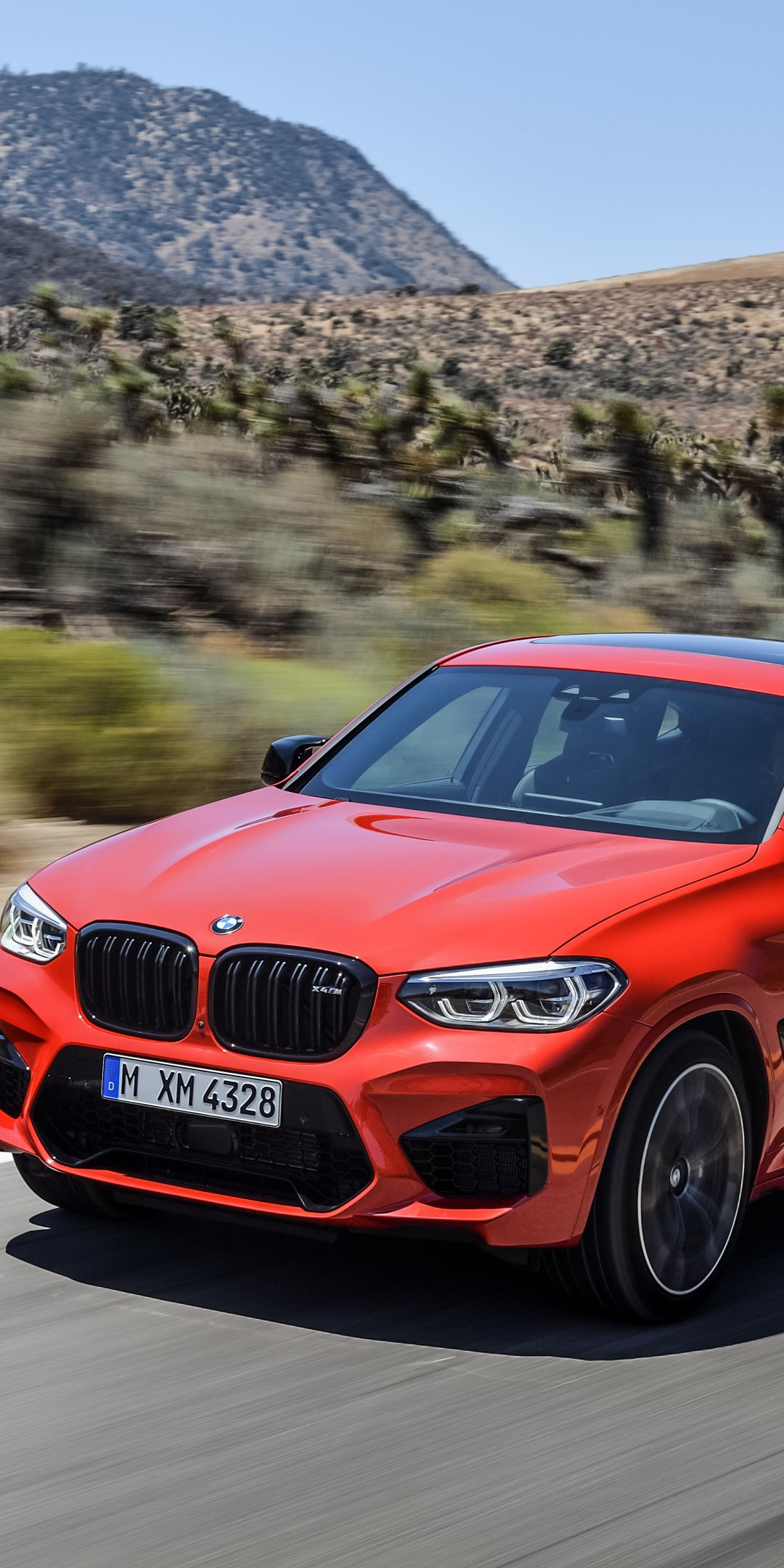 On Road Red Bmw X4 1080x2160 Wallpaper Bmw X4 Bmw Car Wallpapers