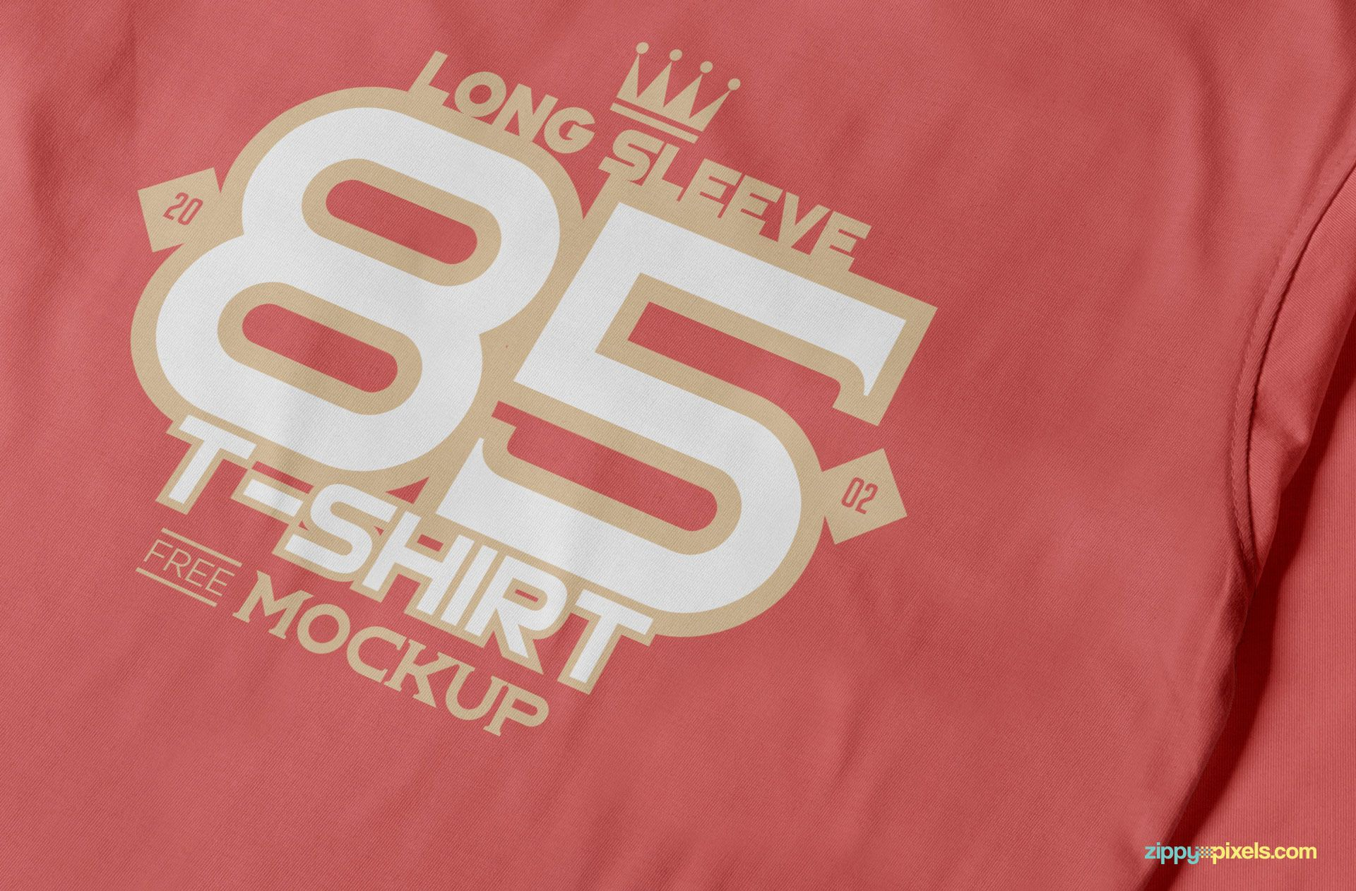 Free Long Sleeve Tshirt Mockup ZippyPixels Shirt