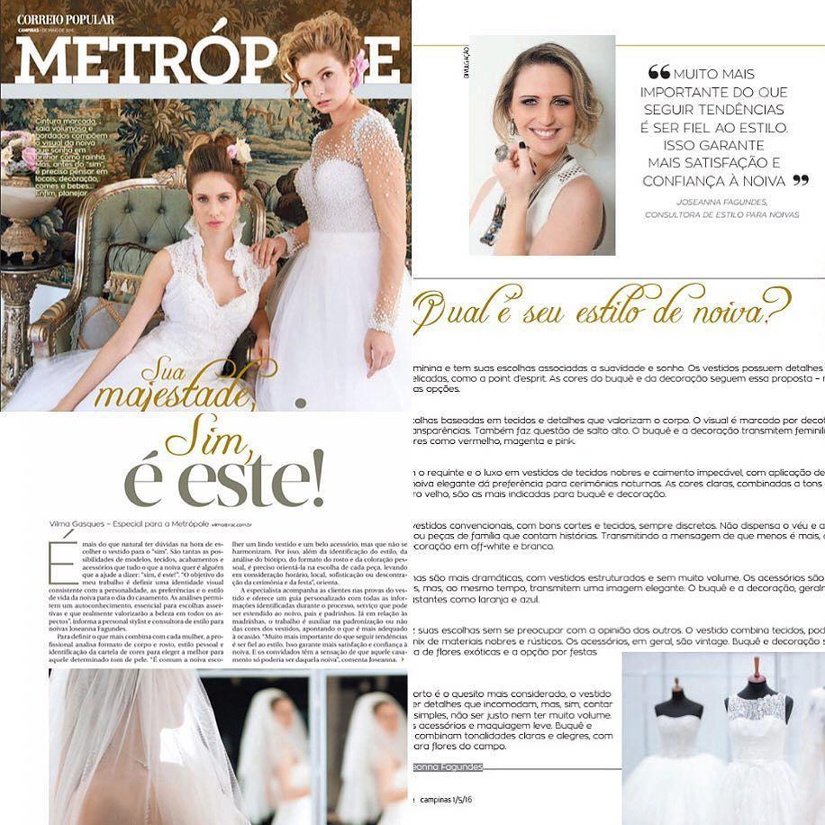 Esta semana meu trabalho foi destaque na @revistametropole  o exemplar foi um Especial para comemorar o Mês das Noivas  #bridestyle #casamento #noivas #weddingdress #wedding by joseannafagundes