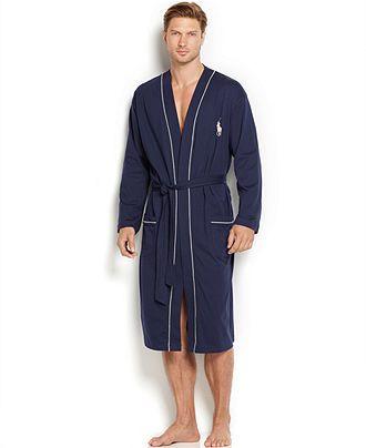 364c8bce38cf Polo Ralph Lauren Men\u0027s Cotton Jersey Robe - Pajamas, Robes \u0026  Slippers