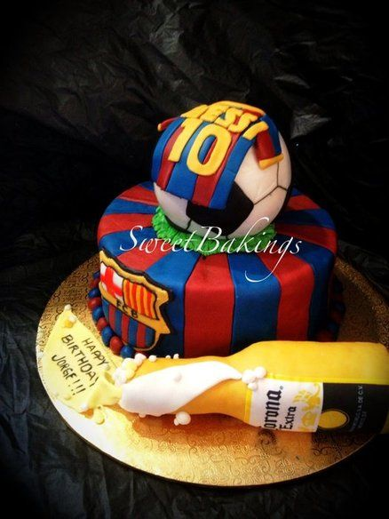 Barcelona Theme Cake By Sweetbakings Cakes Birthday