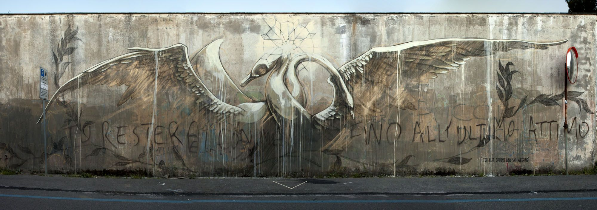 Faith47 from South Africa recently visited Gaeta, Italy to participate in the Memories Urbane Festival the art is called Will You Stay With Me