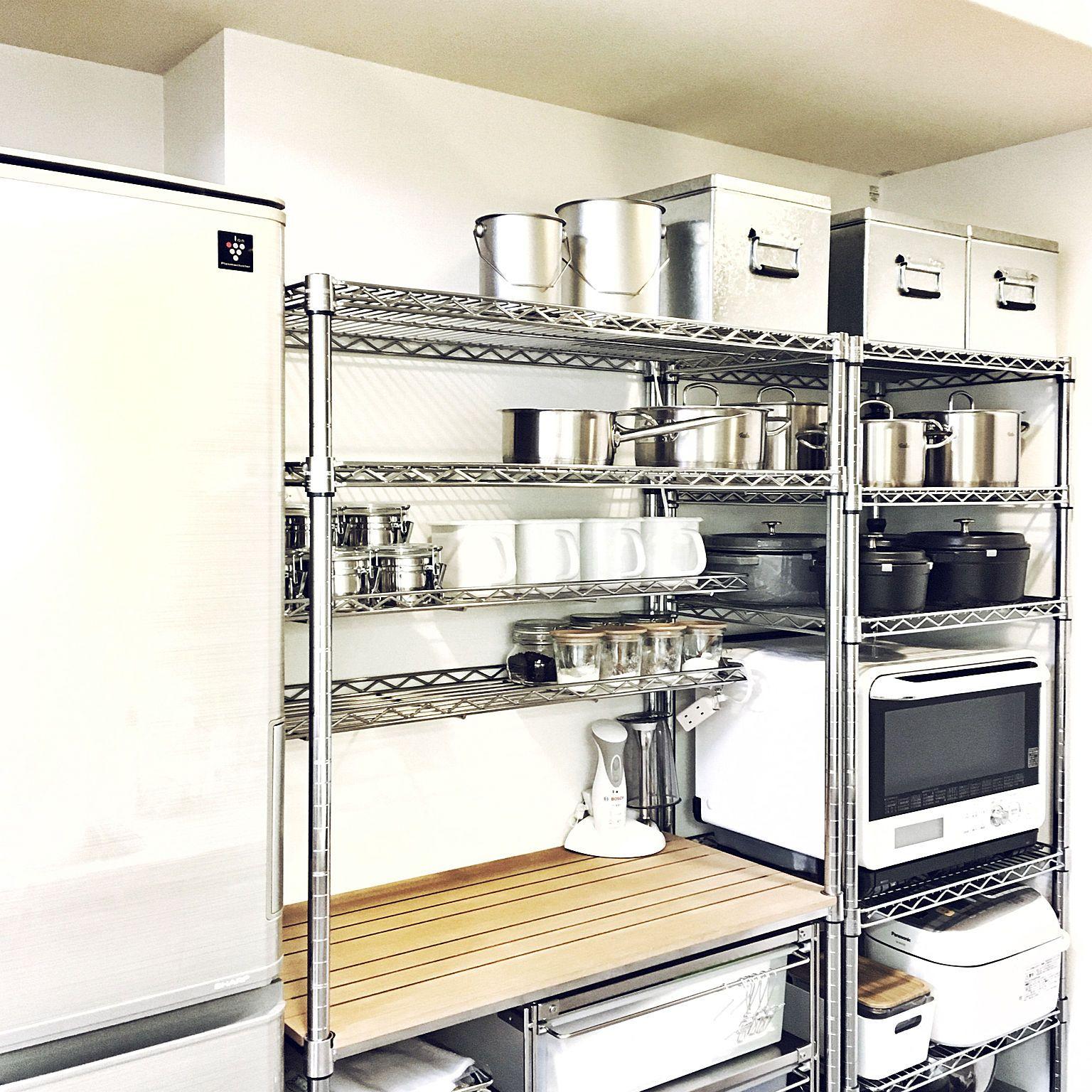 キッチン 無印良品 スチールラック メタルラック ルミナスラック