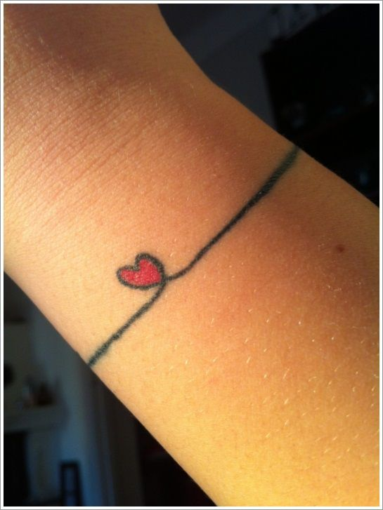 Bracelet wrist tattoo designs i 39 m doing this with the for Minimalist house tattoo