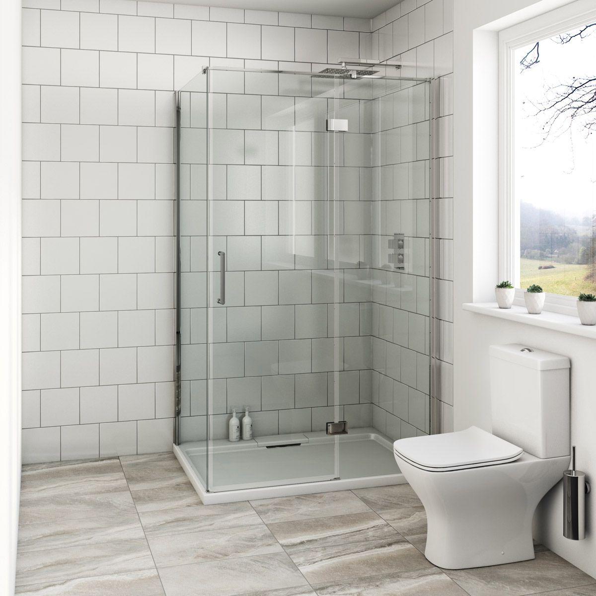 Mode Beck premium 8mm hinged easy clean rectangular shower enclosure ...