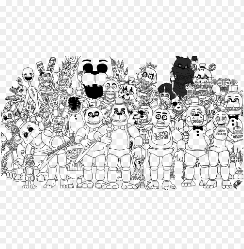 Rint Family Five Nights At Freddys Fnaf 2 Coloring Sister Location Coloring Pages Fnaf Png Image With Transparent Background Png Free Png Images Fnaf Coloring Pages Coloring Pages Camo Stencil