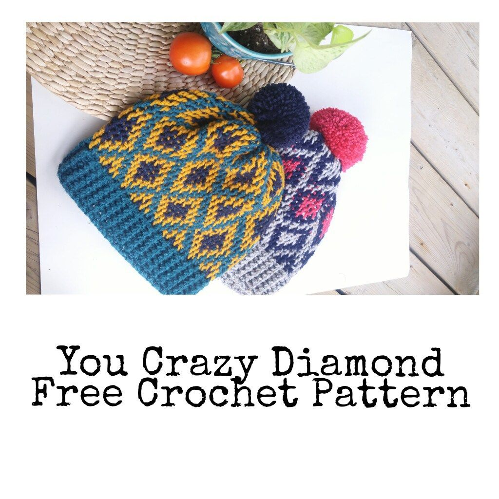 A FREE pattern for a knit look crochet hat. | crafts | Pinterest ...