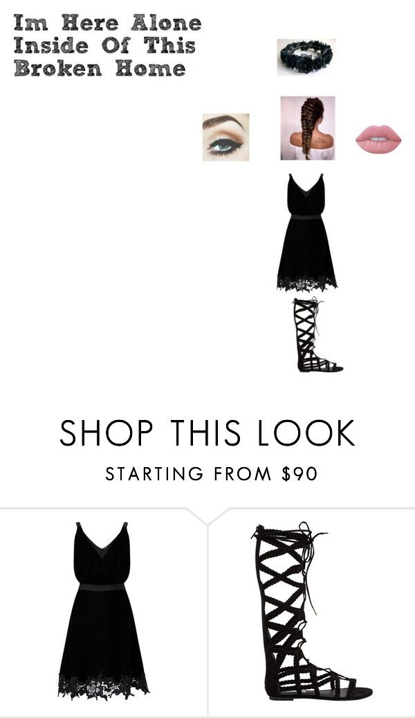 """""""Broken Home"""" by giacozz ❤ liked on Polyvore featuring Miss Selfridge, Steve Madden and Lime Crime"""