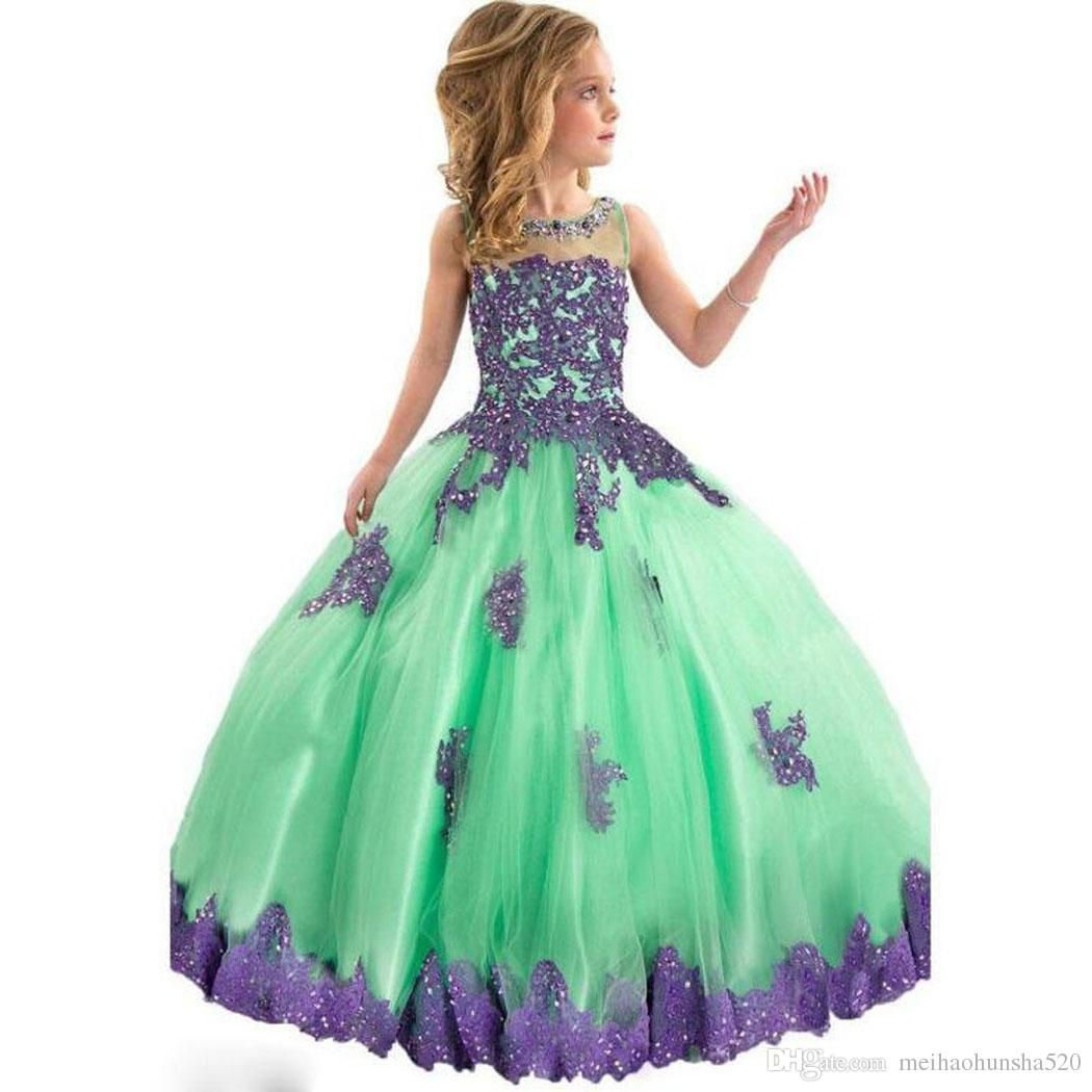 new flower girl dresses green boho first communion dress for