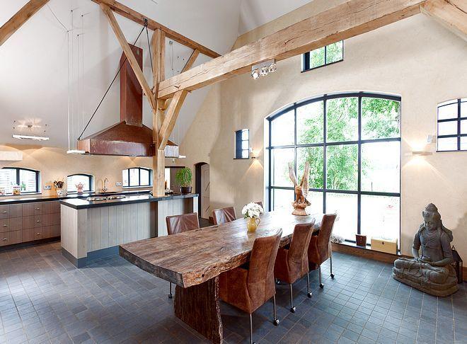 interieur woonboerderij - Google zoeken   balken constructie ...
