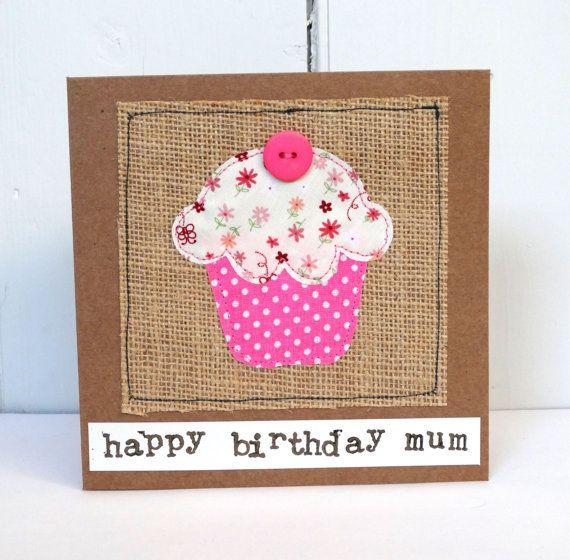 This Cute Handmade Birthday Cupcake Card Has Been Made Using Card