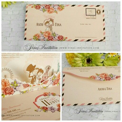 Vinas invitation  Traditional Wedding invitation Wedding design - wedding invitation design surabaya