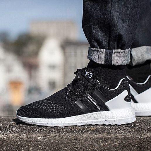 The Y-3 Pureboost ZG Primeknit: a lightweight runner with a Boost performance sole Primeknit uppers and a moulded TPU three stripes/heel cage. In store and online now. #Y3 #yohjiyamamoto #yohji #otf #boost #pureboost #ultraboost #primeknit #threestripes #igsneakercommunity #philipbrownemenswear