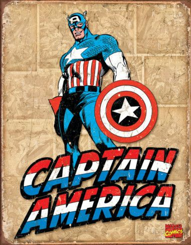 Captain America Panels Emaille bord bij AllPosters.nl
