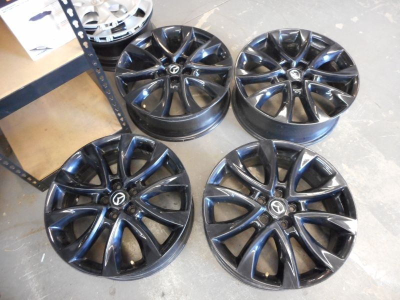 2013 2014 Mazda 19 Cx5 Wheels Professionally Painted In Black