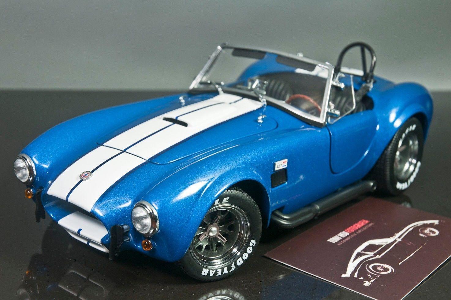 Kyosho 1 18 shelby cobra 427 s c blue with white stripes upgraded version ebay