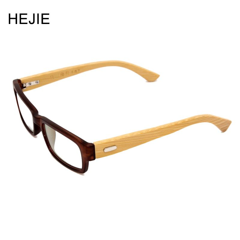 2d67330a7c5 Fashion Men Women Hand Made Natural Bamboo Legs Eyeglasses Frames Clear  Lens Black Blue Tortoise Frame