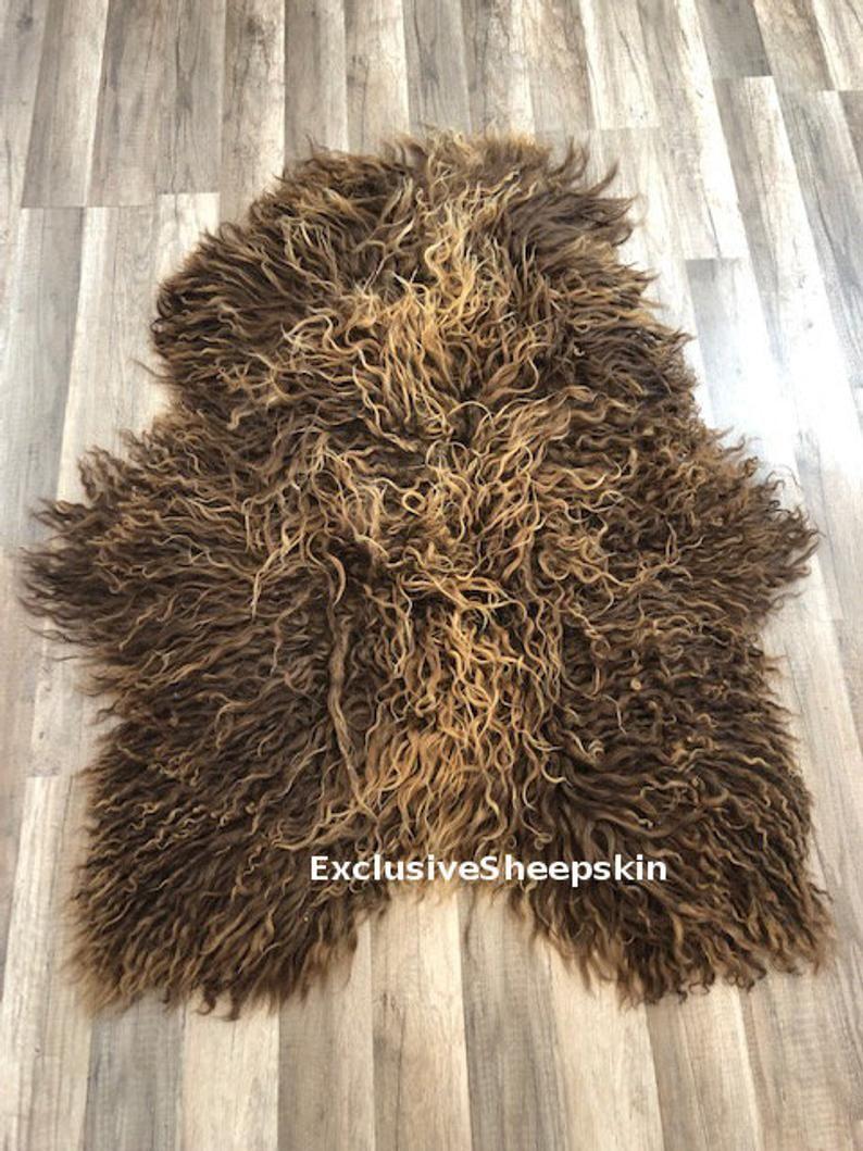 Brown Natural Color Genuine Sheepskin Rug 100 Sheep Skin Etsy In 2020 Sheepskin Rug Rug Decor Sheepskin