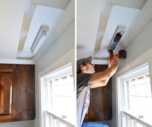 Bathroom Ceiling Light Removal how to replace fluorescent lighting with a pendant fixture