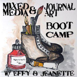 mixed media & journal art boot camp