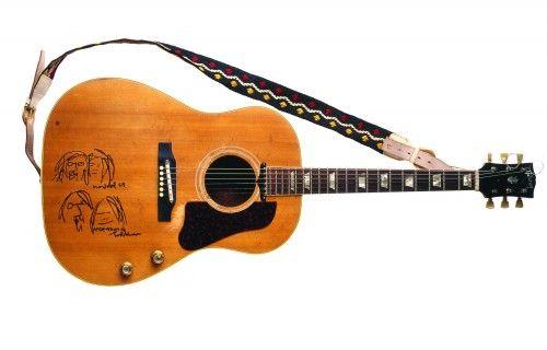 Miniature Guitar Bob Marley One Love Epiphone Style music memorabilia
