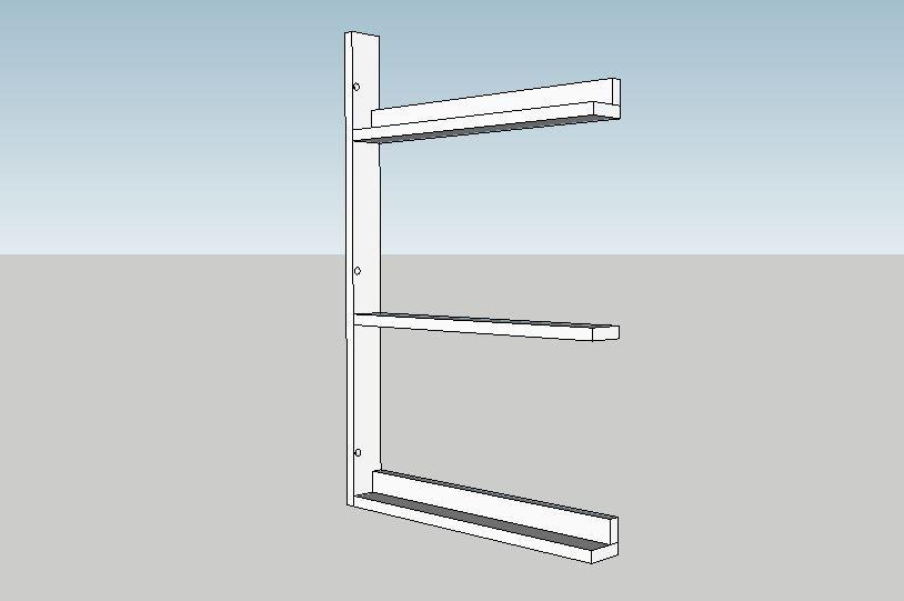 DIY Plate Rack #plateracks