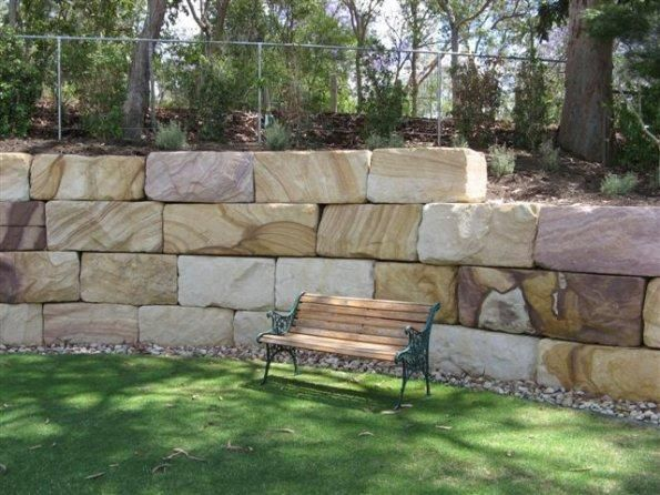 sandstone retaining wall blocks design wow - Retaining Walls Designs