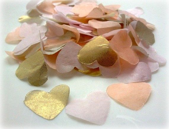 Wedding Confetti/Biodegradable Throwing Confetti - Gold, Blush and Peach
