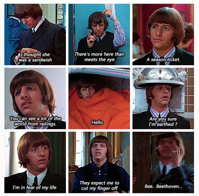 Ringo, in the movie Help!