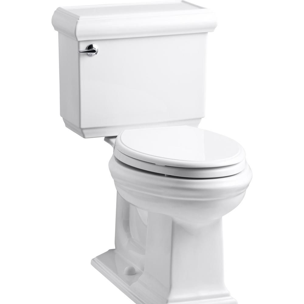 Kohler Memoirs Classic 2 Piece 1 28 Gpf Single Flush Elongated Toilet With Aquapiston Flush Technology In White K 3816 U 0 Kohler Memoirs Kohler Toilet Toilet