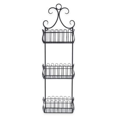 Sheffield Home 3-Tier Wall-Mount Storage Basket in Black ...
