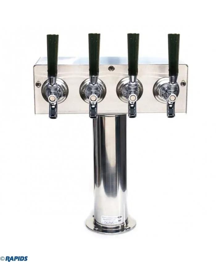 American Beverage 4 Faucet Beer Tower Stainless Beer Tower Beer Brewing Equipment