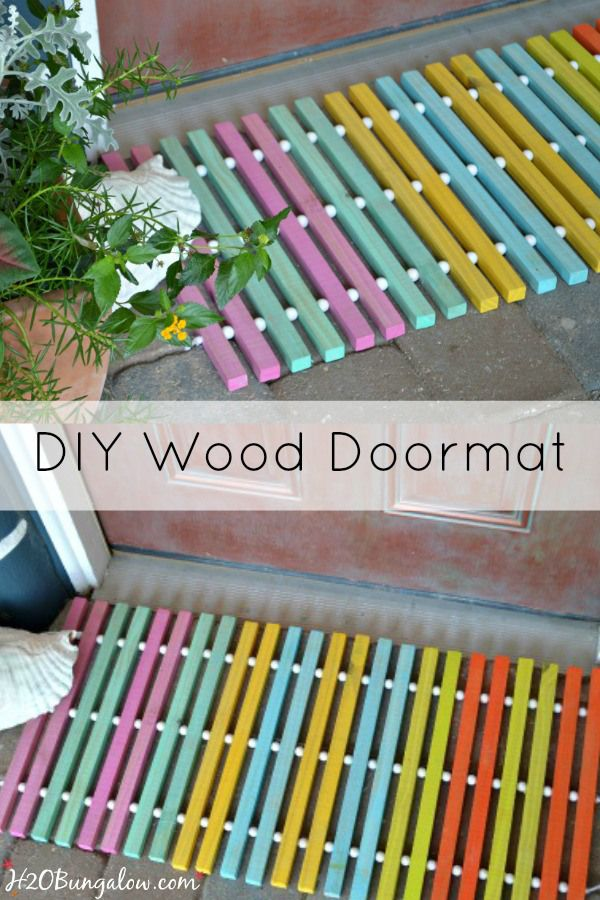 Diy Wood Doormat Wood Diy Door Mat Diy Diy Wood Projects