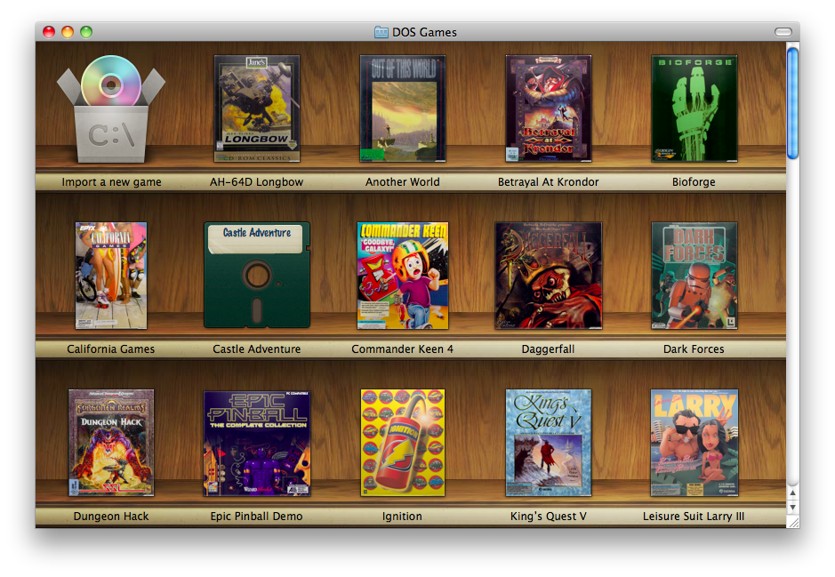 Boxer a Mac DosBox emulator that's beautiful and works