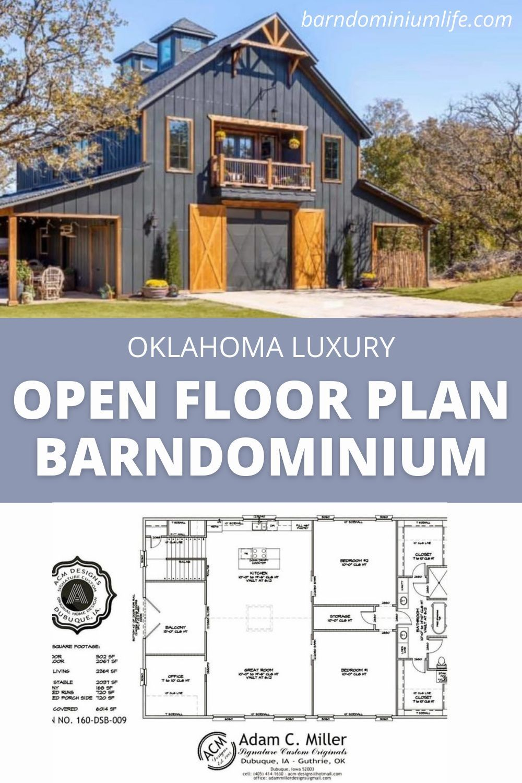 Oklahoma Luxury Open Floor Plan Barndominium Barn House Plans Barn Style House Bungalow House Plans