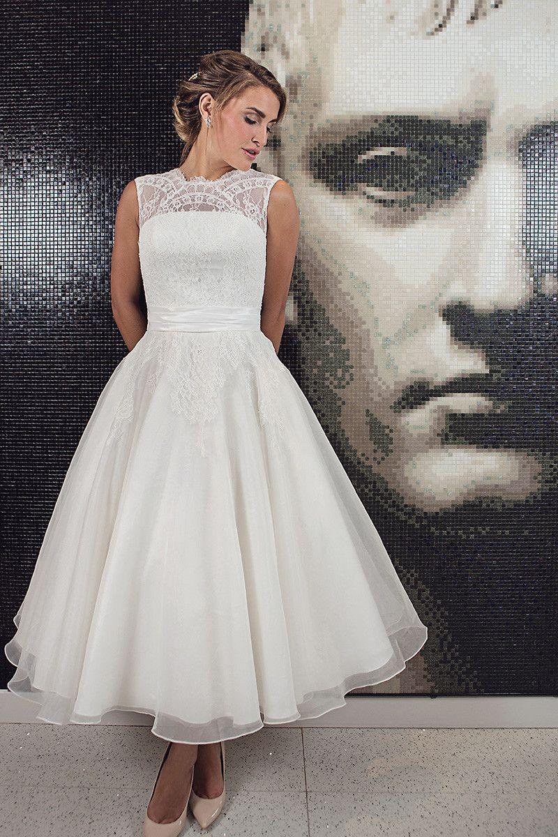 Elegant Tea Length Wedding Dresses Vintage Tea length wedding