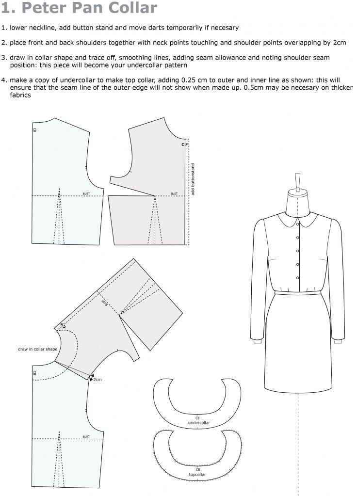 Pattern Drafting: Peter Pan Collar | Schnittmuster u.Ä. | Pinterest ...