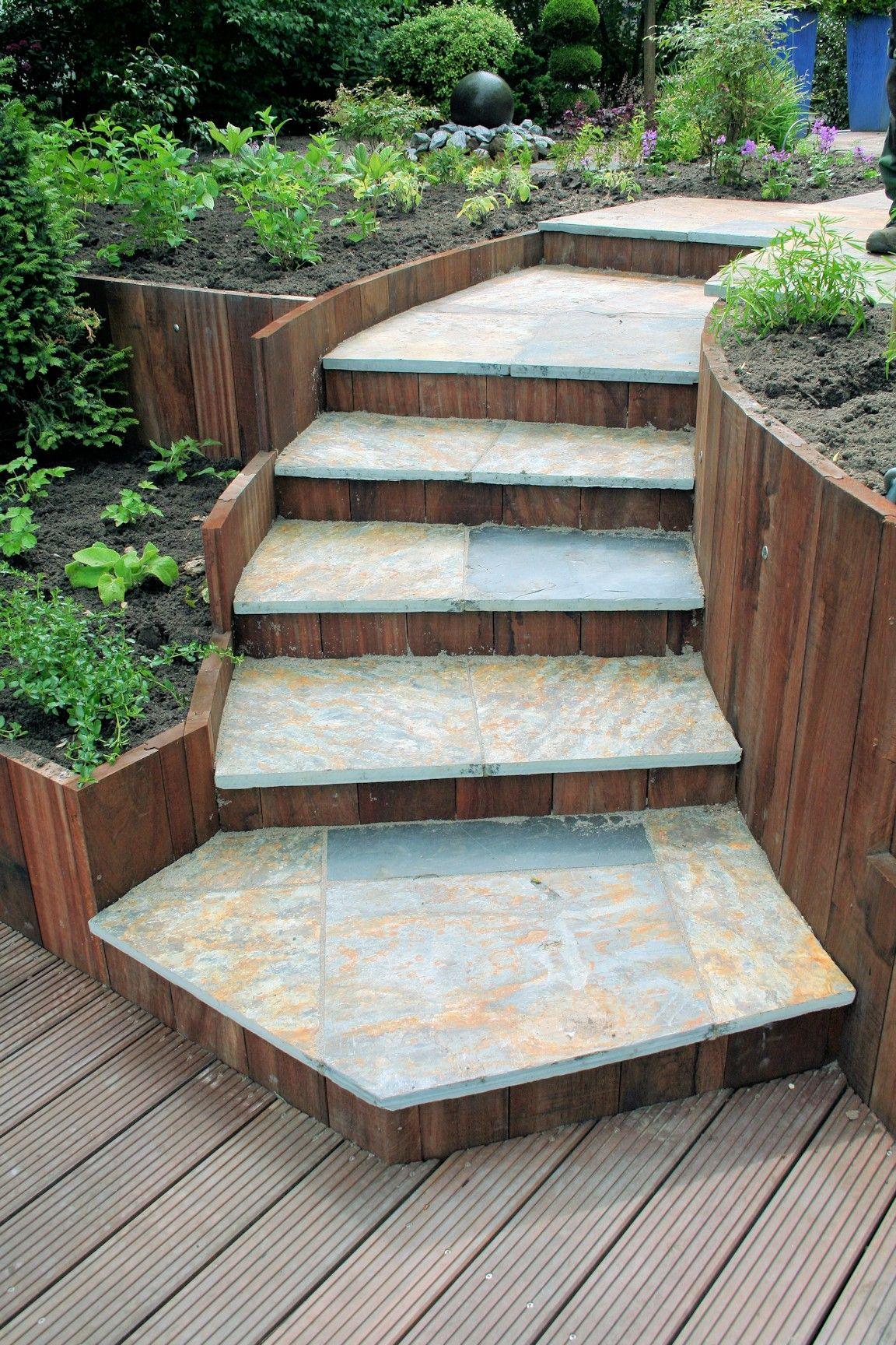 Trap voortuin google zoeken tuin trap pinterest betonblokken zoeken en google - Moderne buitentrap ...