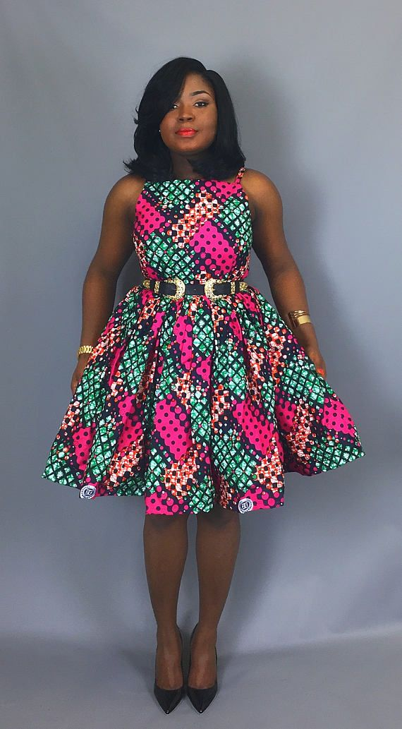 deb7429e36ea3 African print cocktail dressAfrican wax print dressesAnkara