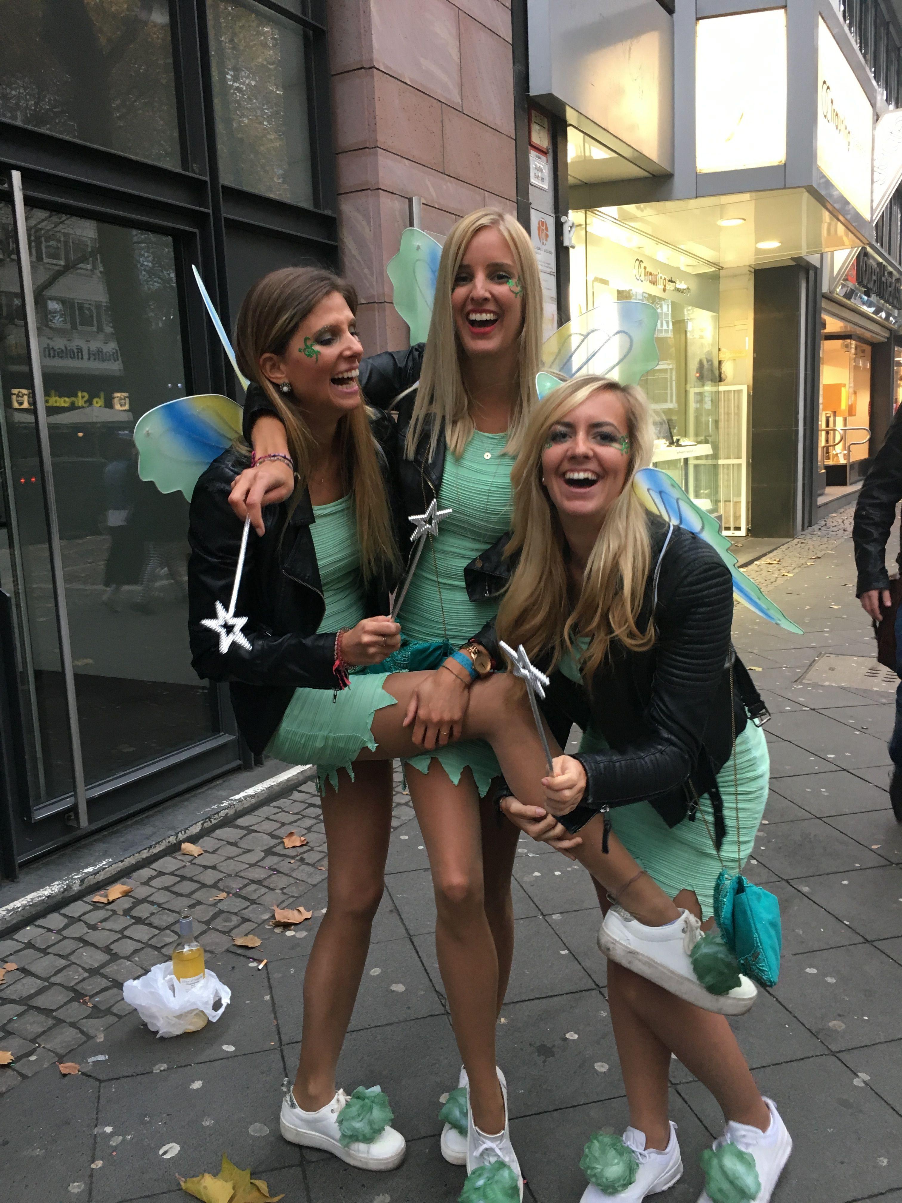 Tinkerbell Kostüm selber machen #halloweencostumeswomen Tinkerbell Kostüm selber machen