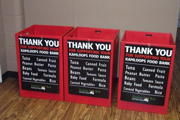 food donations boxes