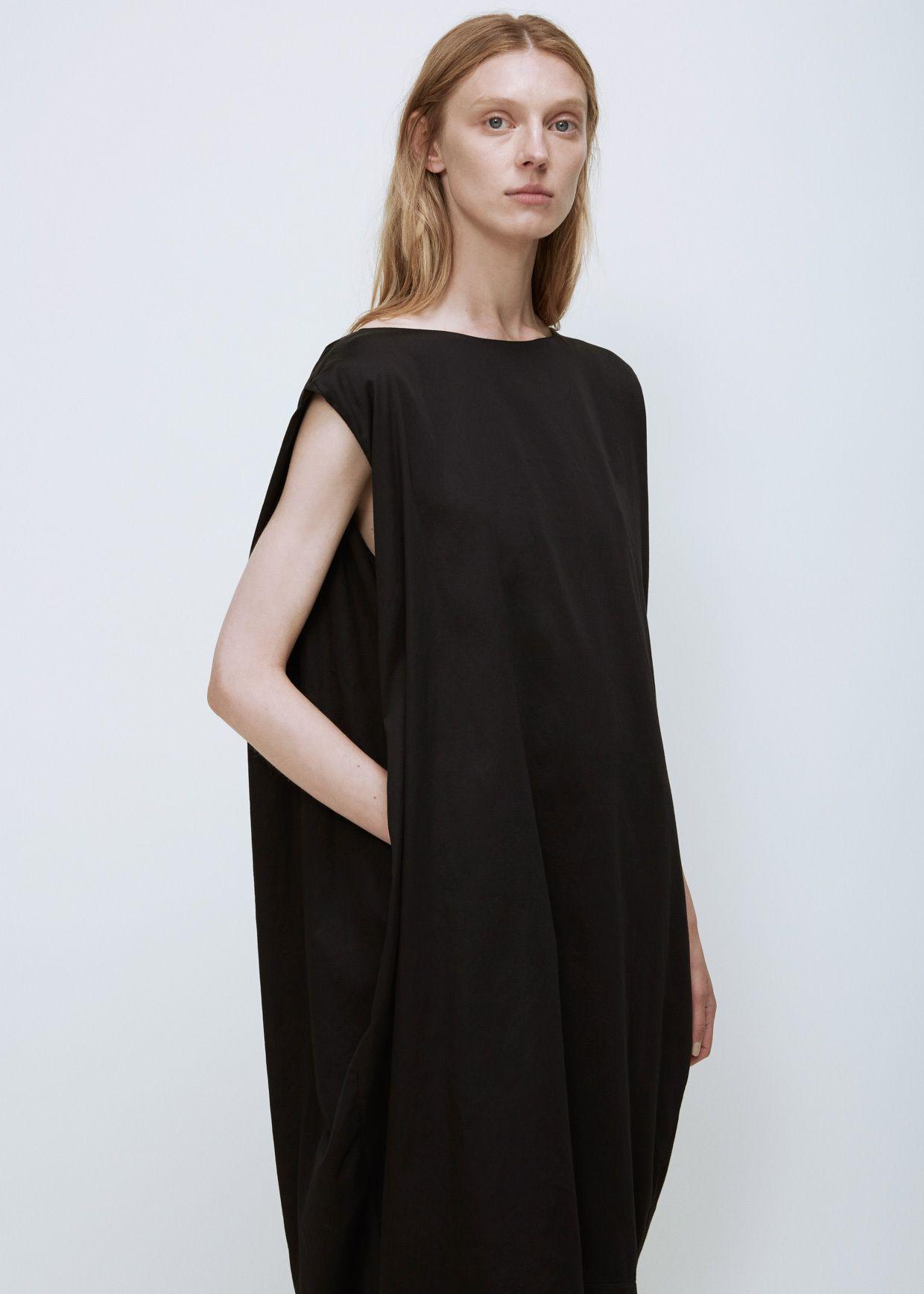 Totokaelo - Black Crane Black Accordion Dress