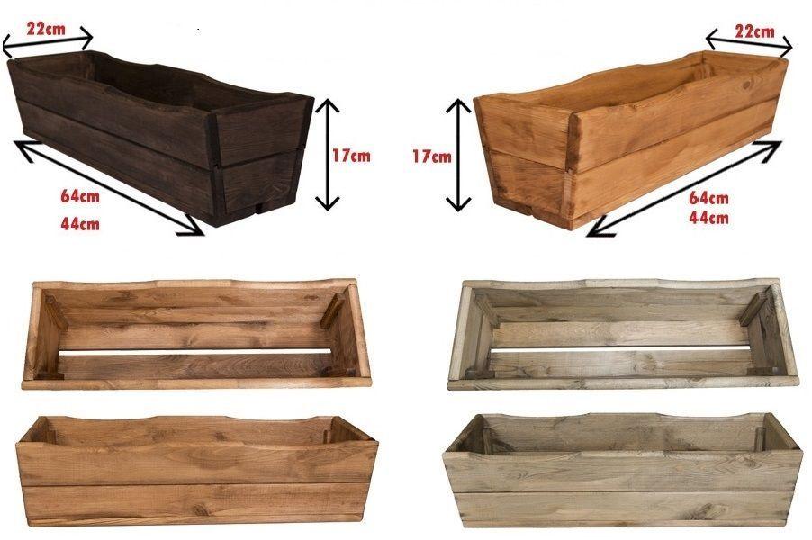 Details zu Pflanzkübel aus Holz D8 Pflanzkasten Blumenkasten ...